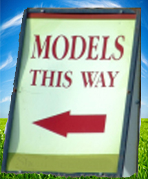 model home sign