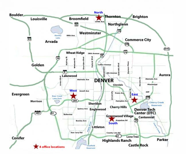 map of metro denver area Real Estate Agency Office Map Denver Colorado map of metro denver area