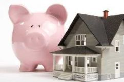 piggy bank saving house