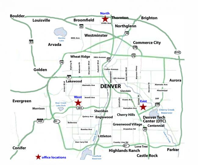 Denver Map | View 25 Of Our Best Maps Of Denver & Colorado