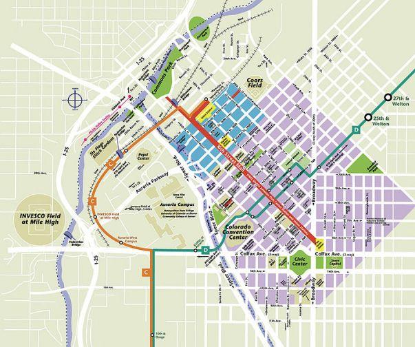 Map Of Downtown Denver Co Downtown Denver | Map Of Downtown Denver CO